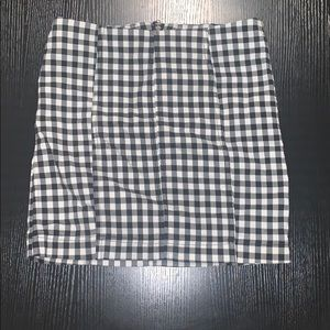 Gingham free people skirt